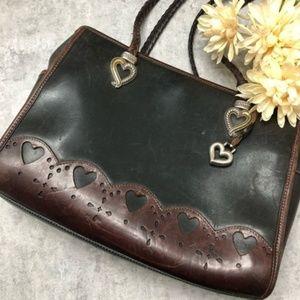 Vintage Brighton Brown / Black Leather Purse